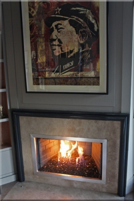 Jeff Jampol Office Fireplace